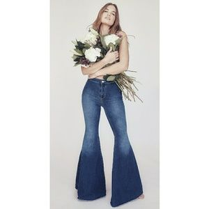 We The Free|Free People Mermaid Flare Jeans Sz 27